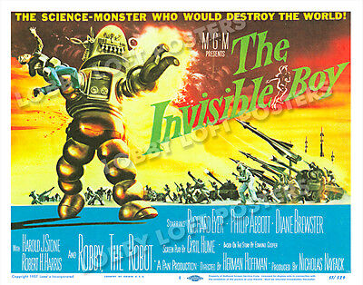 The Invisible Boy Lobby Title Card Poster 1957 Richard Eyer Robby The Robot