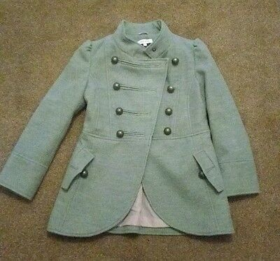Beautiful Miss Evie girls coat, Size Age 8 - 9. Grey  with Pink lining.
