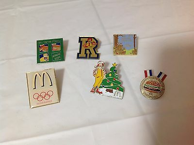 Vintage McDonald's Fast Food Assorted Collectible Pin Lot