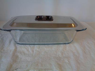 Ekco Hostess Glass Dish Stainless Steel Metal Lid for Foods Server Party Trolley
