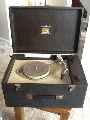 HIS MASTERS VOICE 1950s Gramophone Fully Working