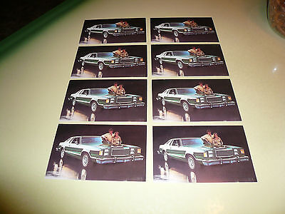 1979 Ford LTD Brougham Postcard - Package Lot of 8 Cards