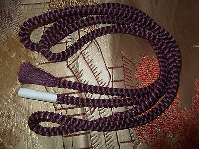 Lovely Authentic Vintage Japanese Silk Obijime Cord/belt Purple