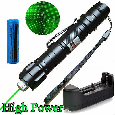 Military 10Miles 532nm Green Laser Pointer Pen Beam Light High Power Lazer Cap Z