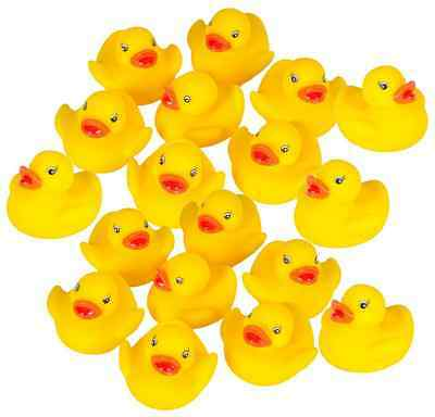 Rubber Floating Duck Ducky Duckie Baby Bath Toy Kids Toddler Tub Shower 12 PCS