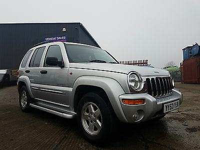 2003 53 Jeep Cherokee Limited Edition 2.8 Crd A Auto Silver 4X4 Low Mileage!