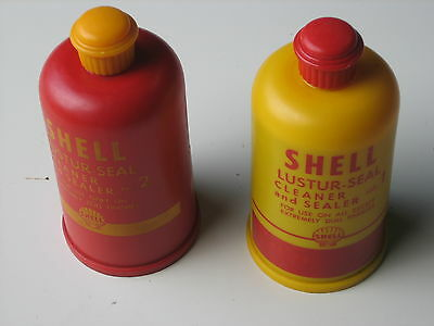 Shell Lustur-Seal #1 and #2 Car Wax .... Empty Containers