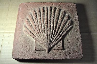 "Antique Terra Cotta Brick ""scallop Shell"" Made By Glen Gery  12 1/2"" X 13"""