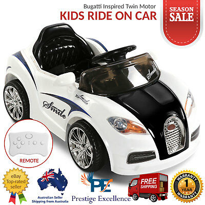 Kids Ride On Car Bugatti Inspired Twin Motorised Children Electric Toys Cars 12V