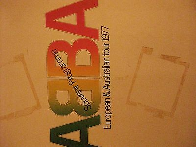 Abba 1977 tour programme Abba soap and Abba Winner single signed by Frida