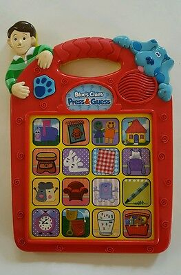 Blue's Clues Press & Guess Electronic Guessing Interactive Game 1998 TYCO