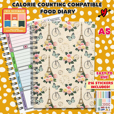 Calorie Diet Food Diary Slimming World Compatible Weight Loss Tracker Journal 14