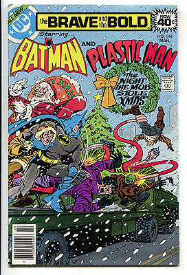 Brave And The Bold 148 1st Series DC 1979 VF Batman Plastic Man Christmas Santa