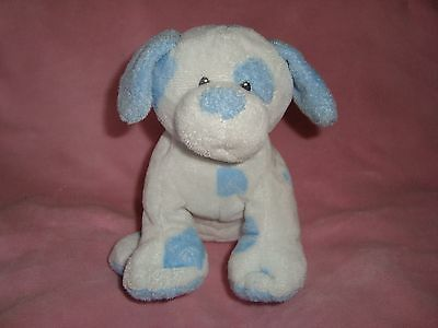 "TY PLUFFIES DOG  Baby Pups Blue spots 8"" 2006"