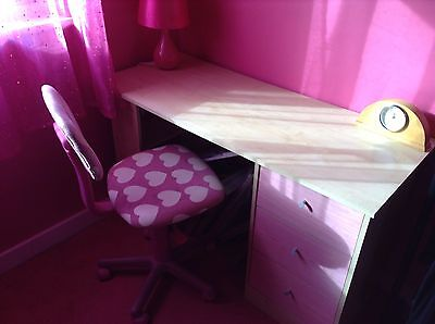 Childrens Pink Desk (and chair)