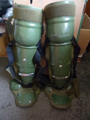 German Army Police Riot Armour! Aluminium Leg Defence With Padded Liners!