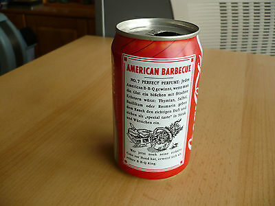Coca-Cola Dose / Can AMERICAN BARBECUE 1990, Cola 0,33l, leer