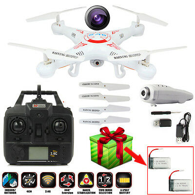 X5C-1 2.4G 4CH Explorers Quadcopter 6 Axis Drone HD Camera UFO Gyro RC+2 Battery