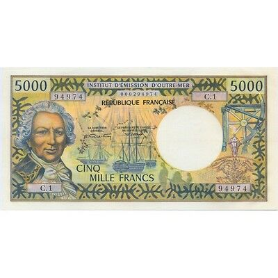 5000 FRANCS TAHITI P.28a  BILLET/NOTE  NEUF/UNC
