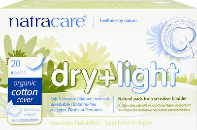Incontinence binding Dry + Light Inconticence - natracare - 20 Piece