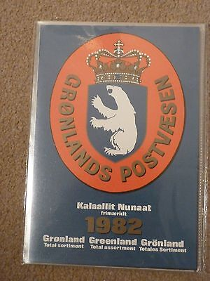 Greenland Stamps year pack 1982