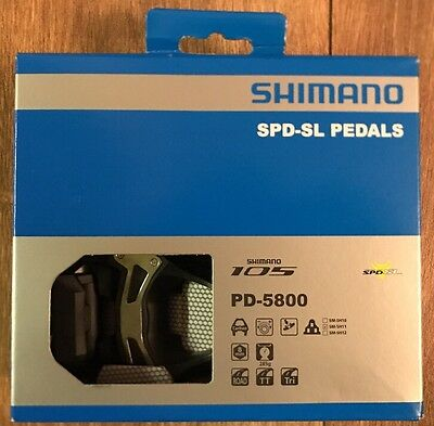 Shimano SPD SL Carbon Pedals PD-5800 With Cleats Crome Brand New Costs £100.00