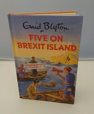 Five on Brexit Island Enid Blyton books for Grown ups Retro Adults Fun gift New