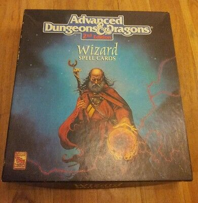 Advanced D&D 2nd Edition Wizard Spell Cards Boxed Set