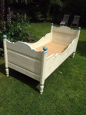 Original Decorated Dutch/French Single/Childs Sleigh Bed