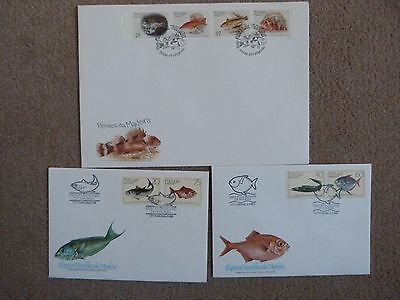Madeira First Day Covers  showing Fish