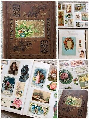 Huge, Full Victorian Christmas Album:  Ephemera Overload! R
