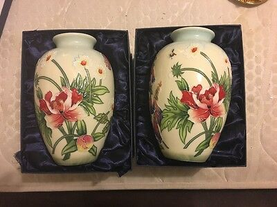 2 Large Old Tupton Ware Vases In Original Boxes