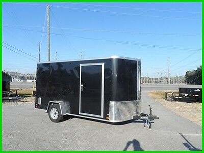 Used 7x12 2 ft v nose 14 inside cargo enclosed Motorcycle Package 2 bike trailer