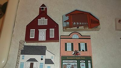 Cats Meow lot 4 Covered Bridge,School, Laura Ingalls Wilder Home, Health Food