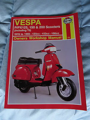 Vespa P PX T5 Scooters 1978 to 1995 Owners Workshop Manual Haynes repair guide