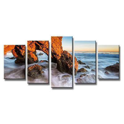 Framed Canvas Print Painting Picture Home Decor Wall Art Seascape Sea Rock