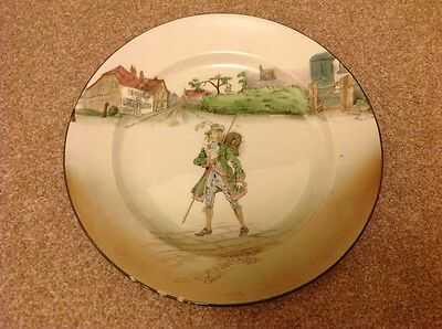"""Royal Doulton Dickens Ware """"Barnaby Rudge"""" plate"""