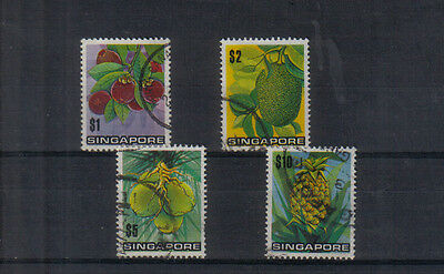 Singapore 1973 Fruits set used