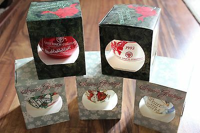 Nash Finch Christmas Ornaments Lot of 5