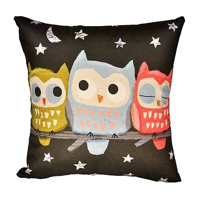"18"" Cushion Cover Lovely Cats Throw Pillow Case Sofa Linen Cotton Car Decoration"