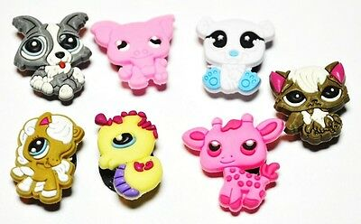 Kids  Pets Animals #2 Critters Shoe Decoration Charms (Set of 7)