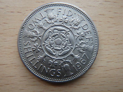 Uncirculated 1967 Two Shilling Coin - Elizabeth Ii - Collectors