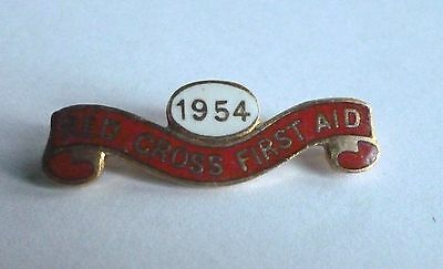 1954 Enamel Clasp / Red Cross First Aid
