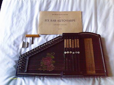 Vintage  Autoharp Made In Germany  Original Tuning Whistle, Box & Key.