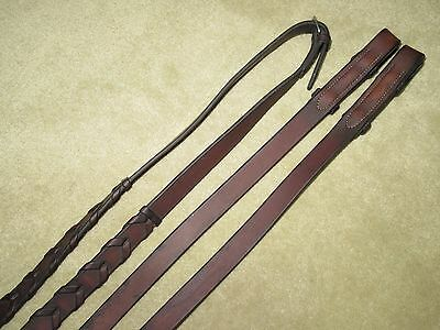 GUC~Beautiful & HIGH QUALITY Brown MADE IN ENGLAND English Laced Reins~3/4 x 109