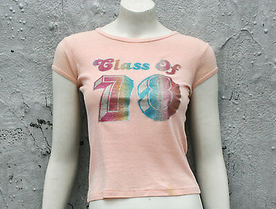 Vintage 70s Glam Baby Doll T-Shirt Tee / David Bowie T-Rex Women's Size XS S M