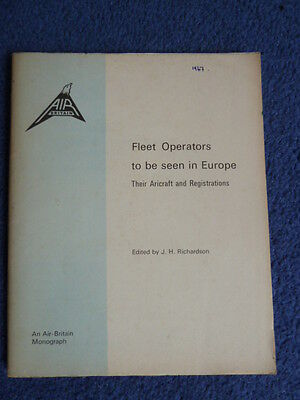 FLEET OPERATORS TO BE SEEN IN EUROPE (1967), an AIR BRITAIN book, airliners