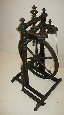 Vintage French rural spinning wheel