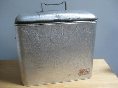 Vintage Silver Metal Magikool Cooler With Lid