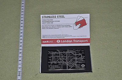 Stainless Steel London Underground Map - Credit card size